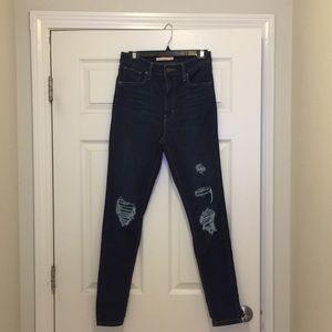 Mile High Levi skinny distressed jeans